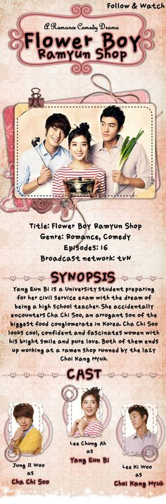 Flower Boy Ramyum Shop! Time to watch another kpop drama!!