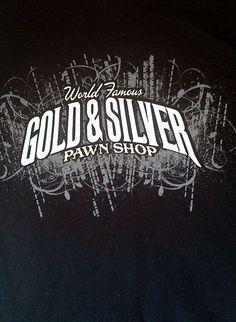 Pawn Shirt Mens Chumlee T Gold Silver TV Shop Stars XL Las Vegas World Famous Las Vegas World, Pawn Stars, Tv Shopping, Neon Signs, Shirt, Silver, Gold, Spring Break, Ebay