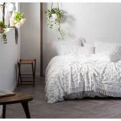 Theres something about chenille..... Linen House Somers Coverlet - Queen Now Only $175 Also available in soft blue  #manchesterfactory #marrickville #sydney #bedlinen #bedding #homeware #interior #homeinterior #decor #homedecor #linen #manchester #homewares #interiordesign #homestyle #homedesign #interiorinspiration #styling #interiors #homestyling #designer #instahome #interiorinspo #textiledesign #homeinspiration #coverlet #bedspread #throw #doona #bedcover
