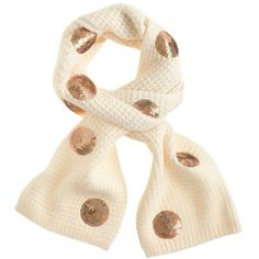J.Crew Girls' sequin dot scarf (850 MXN) ❤ liked on Polyvore featuring girls, kids and scarves