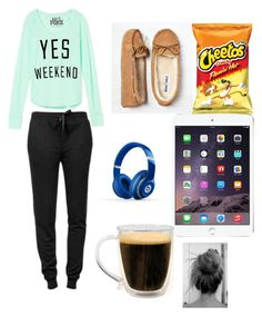 """All nighter"" by leila-hussain ❤ liked on Polyvore featuring Victoria's Secret PINK, T By Alexander Wang, Minnetonka, Beats by Dr. Dre and Primula"
