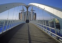 Manchester - Salford Quays - Lowry Bridge  by ken_davis, via Flickr