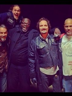 via Kim Coates... Tigs Chibs Happy Jax......  Charlie Hunnam <3 Sons of Anarchy SOA