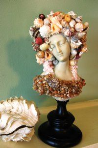 Victorian shell lady in pink.