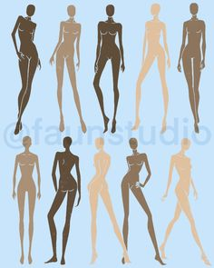 Perfect coloured figure drawing template for fashion illustration. Fashion Figure Templates, Fashion Design Template, Fashion Graphic Design, Fashion Design Portfolio, Fashion Design Sketches, Fashion Illustration Sketches, Fashion Sketchbook, Fashion Poses, Fashion Art