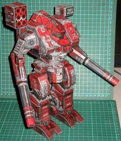 Macross Destroid Tomahawk Papercraft