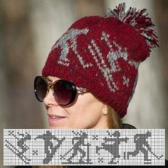 Ravelry: winter olympics sports hat pattern by Julie Rosencrans Knitting Charts, Loom Knitting, Knitting Socks, Knitting Patterns, Knitting Ideas, Hat Patterns, Knitting Machine, Pattern Ideas, Crochet Mittens