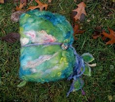 rustic needle felted wool book from the enchanted forest - once upon a time book
