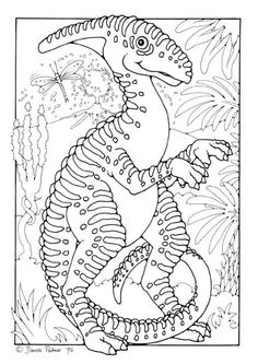Trachodon  Dinosaur Coloring page  School  Dinosaurs