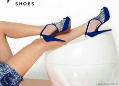 4e1471fa Tacos Zapatos, Zapatos Azules, Sandalias, Calzado De Moda, Zapatos De Moda,