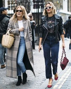The staples you'll need to make it through autumn/winter. Summer Coats, New Wardrobe, Suede Pumps, Mom Jeans, Autumn Fashion, Fall Winter, Leather Jacket, Street Style, Seasons
