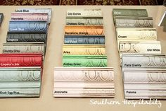 A sampling of colors of Annie Sloan Chalk Paint. Wonderful paint and wax. Annie Sloan Chalk paint has definitely become one of my favorites. Chalk Paint Projects, Chalk Paint Furniture, Furniture Projects, Furniture Makeover, Diy Furniture, Diy Projects, Paint Ideas, Chalk Paint Hutch, Dresser Makeovers