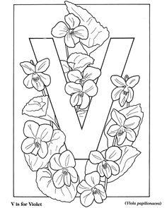 Dover Children's Sampler - Nature Alphabets Coloring Book
