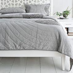 Annie's Bed Base Narrow-Leg Wood Bed Frame - White #westelm