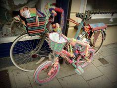 Decoração com bicicletas