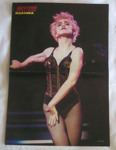 "Madonna Who's That Girl Tour Pin Up Magazine Poster Clipping 11"" by 16"""