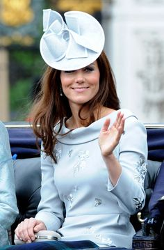June 16, 2012: Catherine, Duchess of Cambridge rides in one of the royal carriages during The Trooping the Color ceremony in London, England.