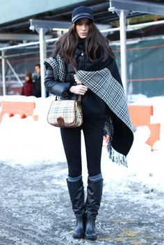 Off-duty model style from New York Fashion Week