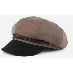 Brixton Winston Spitfire Cap - Charcoal Grey ($57) ❤ liked on Polyvore