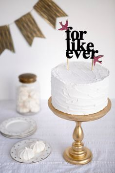 For Like Ever -- Wedding Cake Topper by BetterOffWed on etsy - http://www.etsy.com/shop/betteroffwed