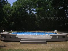 Having a pool sounds awesome especially if you are working with the best backyard pool landscaping ideas there is. How you design a proper backyard with a pool matters. Semi Inground Pool Deck, Pool Decks, Above Ground Pool, In Ground Pools, Backyard Pool Landscaping, Backyard Ideas, Outdoor Ideas, Outdoor Stuff, Landscaping Ideas