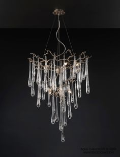We're lusting over this Aqua Chandelier from @biasicatani Available in suite 813 at the #DDBuilding