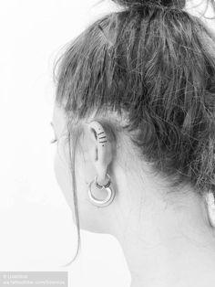 Tattoo uploaded to Tattoofilter Line Art Tattoos, Ear Tattoos, Explore Tattoo, Orange Nails, Geometric Lines, Tattoo Designs, Tattoo Ideas, Tattoo Studio, Tattoos For Women