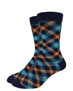 Aqua Plaid | Good Luck Sock | goodlucksock.com #socks
