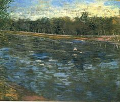 Vincent van Gogh. The Seine with a Rowing Boat. Paris: Spring 1887