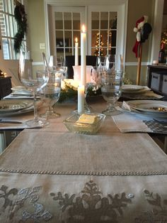 Table Settings, Table Decorations, Christmas, Furniture, Home Decor, Navidad, Room Decor, Table Top Decorations, Xmas