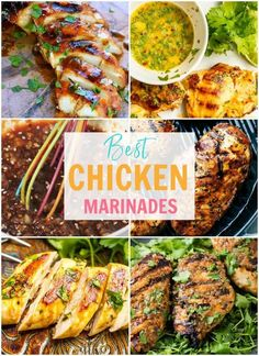 These easy chicken marinades will add delicious flavour to your chicken dinners. We've got 20 grilled and baked chicken marinade recipes for every cuisine you can think of, from an Asian chicken marinade to Mediterranean chicken, and so many more! Asian Marinade For Chicken, Baked Chicken Marinade, Chicken Marinades, Grilled Chicken, Asian Chicken, Mediterranean Chicken Marinade, Orange Chicken, Keto Chicken, Rotisserie Chicken