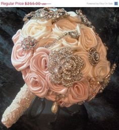 InStockSale Antique White & Ice Pink Rose by EleganceOnTheAvenue, $216.75