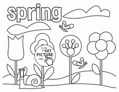 spring coloring page for kids seasons coloring pages printables free wuppsycom