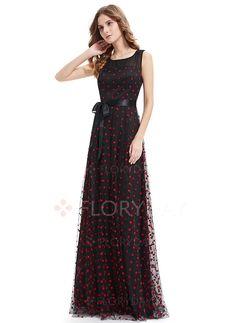 Kleider - $111.56 - Polyester Gepunktet Ärmellos Maxi Elegant Kleider…