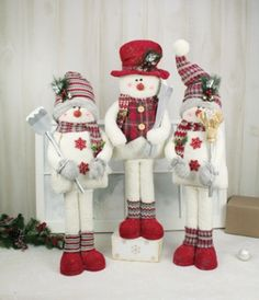 These adorable large standing holly snowmen are ready for a special place in your home and ready for all of the activities the winter season has to offer!