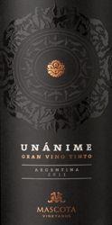#30 Top 100 Wines 2015  - 93 Points - Mascota 2011 Unánime Gran Vino Tinto Red (Mendoza)   Wine Enthusiast Magazine