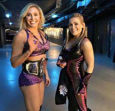 Charlotte & Natalya backstage