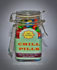Best Gag Gift - Chill Pill - Funny Gift for Boyfriend, Girlfriend, Gift for Men, Women, Friends - Birthday Gift, Christmas Gift by DaisyChainOnline