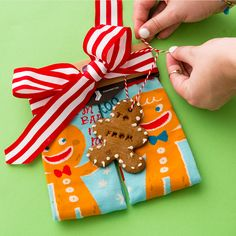 Follow this easy step-by-step recipe for whipping up an adorable batch of gingerbread men gift tags to adorn each of your holiday gifts! #partner