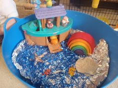 We have been sharing the story of Noah's Ark.     I added some sensory elements to our Noah's Ark to make it even more fun.    I put our ...