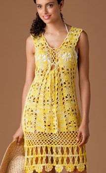 Princess Buttercup Crochet Sundress. Free Pattern More Great Looks Like This