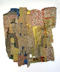 One of the amazing works of African artist El Anatsui
