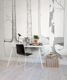 A favorite wallpaper from Rebel Walls, In the Forest lives...! #rebelwalls #wallpaper #wallmurals