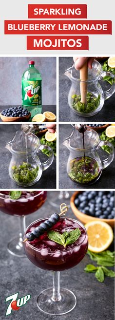 Celebrate spring in the most delicious way—with this recipe for Sparkling Blueberry Lemonade Mojitos! Made with 7UP®, fresh mint, simple syrup, lemonade, and rum, this bubbly beverage will come together for your seasonal celebration in no time. And once you pick up all the ingredients you'll need for this berry delicious homemade mixed drink at ShopRite, you might not be able to host a party without it!