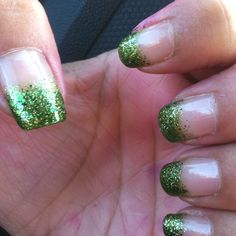 St pattys day nails. I used Sinful nail polish ... Don't remember names