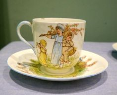 RARE Staffordshire Victorian Doll Childs Nursery Tea Set Hand Painted c.1873 | eBay