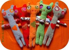Doudous chats, petits monstres, lutins et Cie #2  