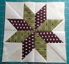 Squash House Quilts: No Y-Seams 8-Point Star Tutorial!