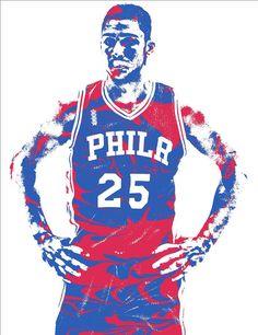 Ben Simmons Philadelphia Sixers Pixel Art 2 Art Print by Joe Hamilton 713349d95
