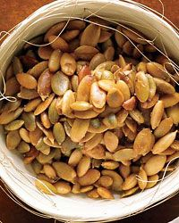 Toasted Pumpkin Seeds // More 30-Minute Thanksgiving Hors d'Oeuvres: http://www.foodandwine.com/slideshows/30-minute-thanksgiving-hors-doeuvres #foodandwine